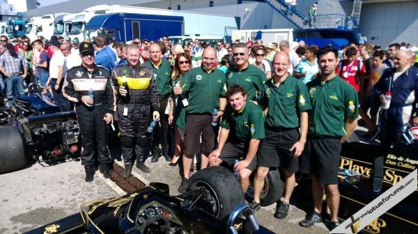 Parc fermé was a happy place for Classic Team Lotus at Jerez