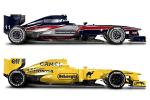 F1 cars in classic Team Lotus colours