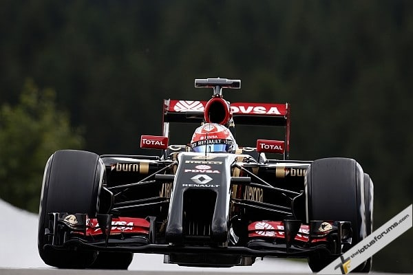 Double retirement for Lotus F1 in Spa