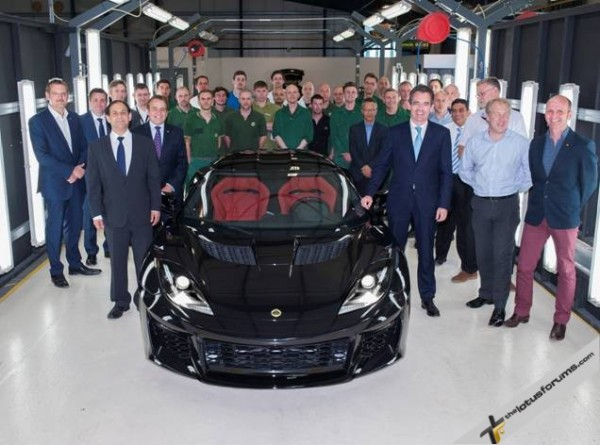 Lotus mark milestone as first Evora 400 build is complete