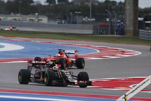 Pastor Maldonado (VEN) Lotus F1 E23. United States Grand Prix, Sunday 25th November 2015. Circuit of the Americas, Austin, Texas, USA.