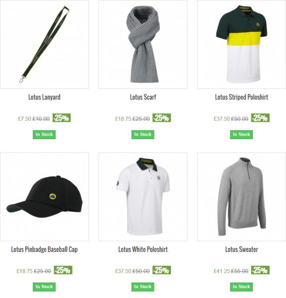Lotus Merchandise Black Friday sale – 25% off!!